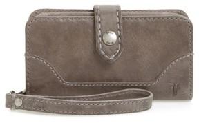 Frye Women's 'Melissa' Leather Phone Wallet - Grey