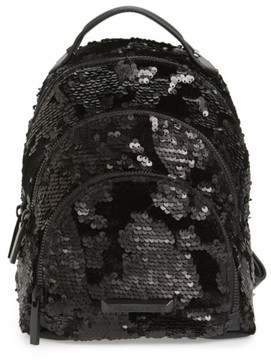 KENDALL + KYLIE Mini Sloane Velvet & Sequin Backpack - Black