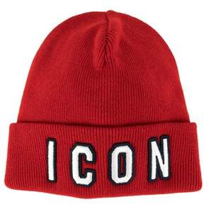 DSQUARED2 Men's Red Wool Hat.
