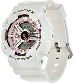 Casio G-Shock Women's Analog Digital Pink on White Resin Watch