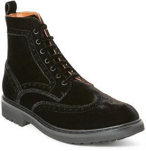 Givenchy Black Commando Velvet Wingtip Boots