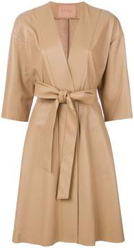 Drome tie waist V-neck coat