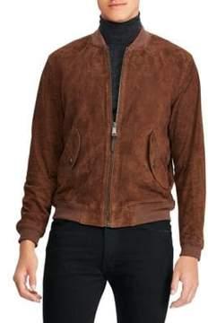 Polo Ralph Lauren Suede Gunners Bomber Jacket