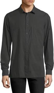 BLK DNM Men's Solid Spread Collar Sportshirt