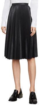 BCBGMAXAZRIA Elsa Pleated Faux-Leather Skirt