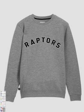 Frank and Oak Toronto Raptors Ottoman-Knit Crewneck in Grey