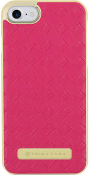 Trina Turk Iphone 7 - Basket Weave Case Fuchsia