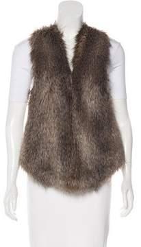Ella Moss Faux Fur Knit Vest