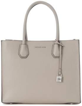 Michael Kors Mercer Grey Leather Tote Bag - GRIGIO - STYLE
