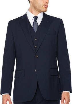 Blend of America STAFFORD Stafford Travel Wool Stretch Navy Pinstripe Jacket - Classic Fit