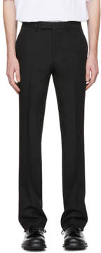 Raf Simons Black Wool Slim Fit Classic Trousers