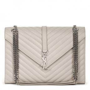 Saint Laurent Satchel monogramme leather handbag - BEIGE - STYLE