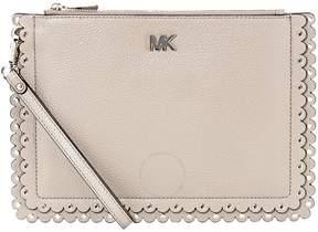 Michael Kors Pebbled Leather Medium Pouch- Truffle