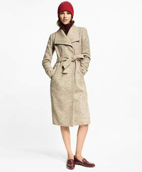 Brooks Brothers Flecked Herringbone Tweed Coat
