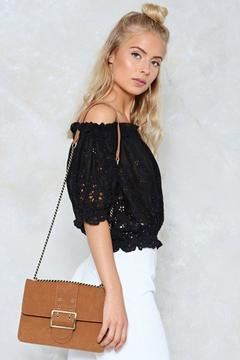 nastygal WANT Below the Belt Vegan Suede Bag