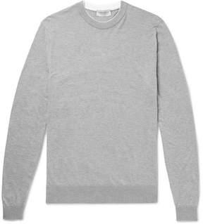 John Smedley Rodney Layered Sea Island Cotton Sweater