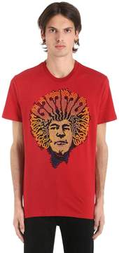 Etro Afro Sequined Cotton Jersey T-Shirt