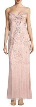 Aidan Mattox Beaded Floral Gown