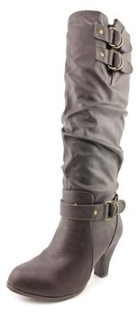 Rampage Eleanor Round Toe Synthetic Knee High Boot.