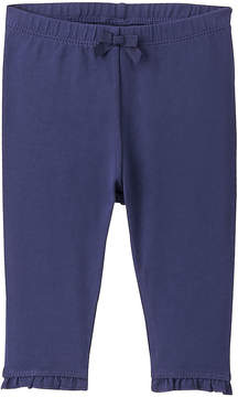 Gymboree Navy Flower Ruffle-Hem Leggings - Infant
