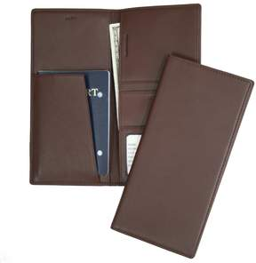 Royce Leather Checkpoint Nappa Leather Passport Case