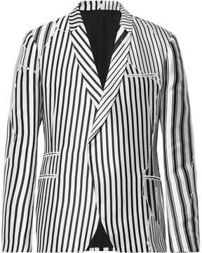 Haider Ackermann Double-Breasted Striped Twill Blazer