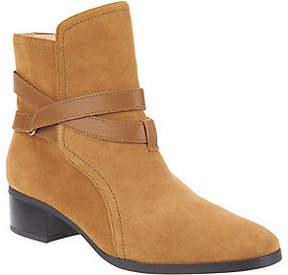 C. Wonder Suede Ankle Boots w/ Strap Details - Taylor
