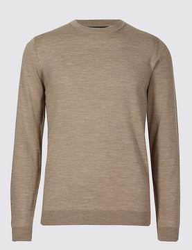 Marks and Spencer Pure Merino Wool Crew Neck Jumper