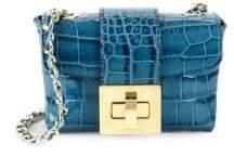 Mario Valentino Paulette Crocodile Leather Shoulder Bag
