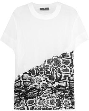 adidas by Stella McCartney Printed Mesh T-shirt - White
