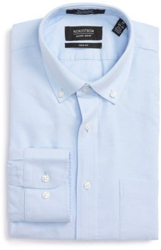 Nordstrom Men's Trim Fit Solid Oxford Dress Shirt