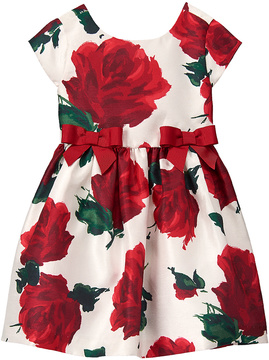 Gymboree White & Red Rose Dress - Infant & Toddler