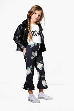 boohoo Girls Floral Frill Bottom Trouser