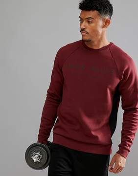 Jack Wills Sporting Goods Seagrave Color Block Crew Neck Sweater In Red