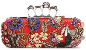 Alexander McQueen Knuckle embellished box clutch