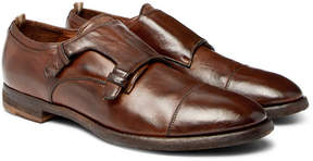 Officine Creative Princeton Burnished-Leather Monk-Strap Shoes