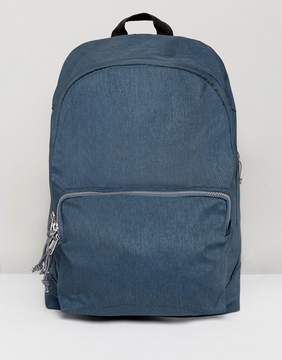 Asos Backpack In Teal Marl With Exposed Zips
