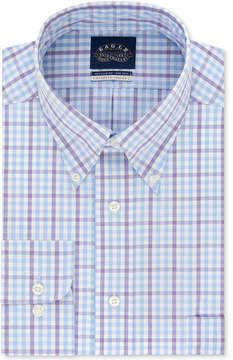 Eagle Men's Classic Fit Non-Iron Flex Collar Performance Check Dress Shirt