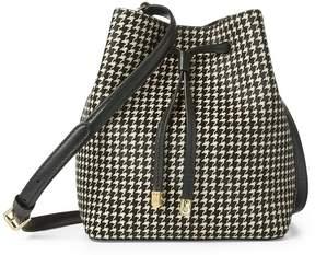 Lauren Ralph Lauren Debby II Houndstooth Drawstring Bag