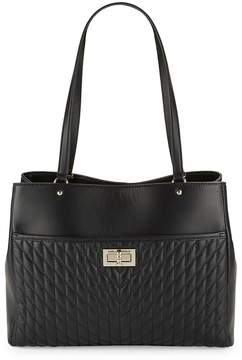 Karl Lagerfeld Women's Diamond Stitched Leather Tote