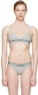 Calvin Klein Underwear Grey Heritage Athletic Triangle Bra