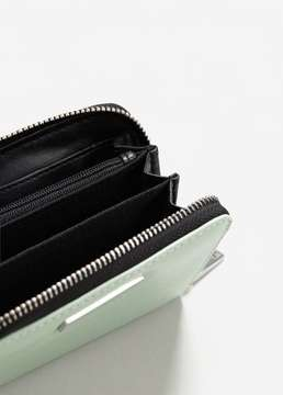 MANGO Zip pebbled wallet