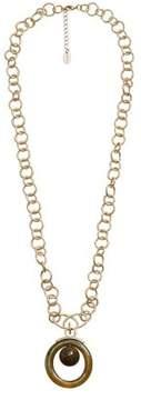 Violeta BY MANGO Link circle necklace