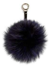 Adrienne Landau Fox Fur Pom-Pom Keychain