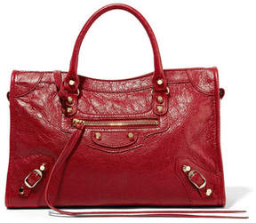 Balenciaga Classic City Textured-leather Tote - Claret
