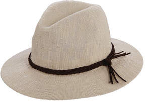 Scala Women's LC767 Knit Safari Hat with Braid Trim