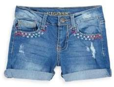Vigoss Little Girl's Zigzag Heart Denim Shorts