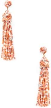 Deepa Gurnani Women's Beaded Drop Tassel Statement Earrings