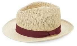 Saks Fifth Avenue Contrast Patterned Fedora Hat