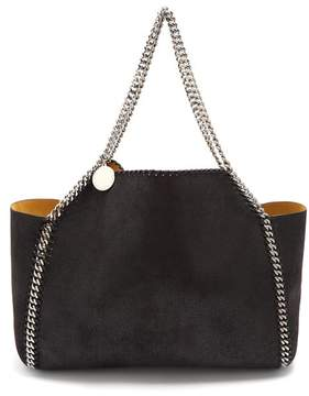 Stella McCartney Falabella Reversible Faux Suede Tote - Womens - Black